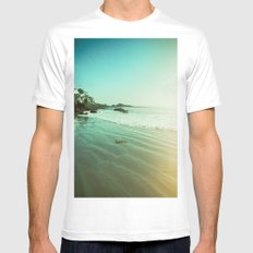 CDM Waves. White MEDIUM Mens Fitted Tee