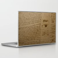 da vinci Laptop & iPad Skins featuring Da Vinci I by Megan Burgess