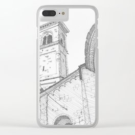 Bergamo Square, Italy Clear iPhone Case
