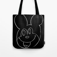 mickey Tote Bags featuring mickey by Autumn Dawn