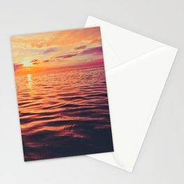 Maldivian sunset 3 Stationery Cards