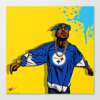 steelers Canvas Prints featuring STEELERS PAC by Mike Farhat Art Mobb