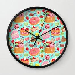 Sweet Treats Pattern Wall Clock