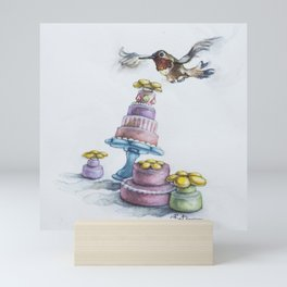 Rufio Takes the Cake, AKA Happy Hummingbird Party Mini Art Print