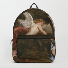 """Sir Anthony van Dyck """"Cupid and Psyche"""" Backpack"""