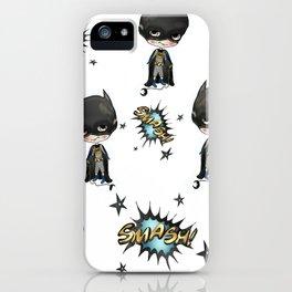 Super-cute-super-heroes bat-man iPhone Case
