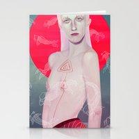 koi Stationery Cards featuring Koi by Josh Merrick