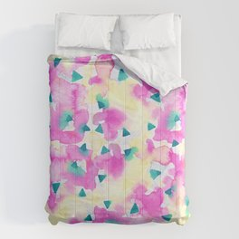 Pink and Blue Summer Breeze Comforters