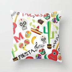 fiesta mexa Throw Pillow
