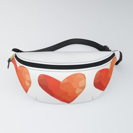 A Single Red Heart Fanny Pack