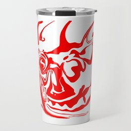 face8 red Travel Mug