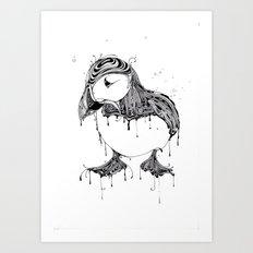 Hawt Puffin Art Print