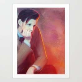 Thinking it Over Doctor Art Print