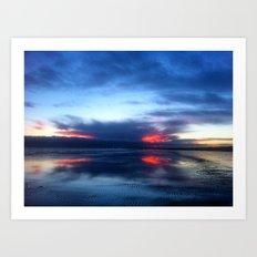 REFLECTIONS AT SUNDOWN Art Print