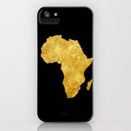 Gold Africa iPhone Case