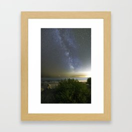Milkyway at Pebble Beach Framed Art Print