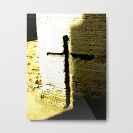 Cross Within a Building no.2 Metal Print