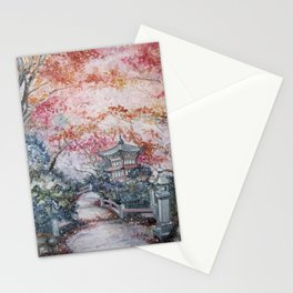 Autumn (Watercolor painting) Stationery Cards