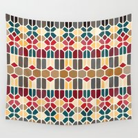 budapest Wall Tapestries featuring Budapest Voronoi by Enrique Valles