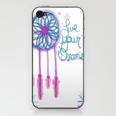 Live Your Dreams - White iPhone & iPod Skin