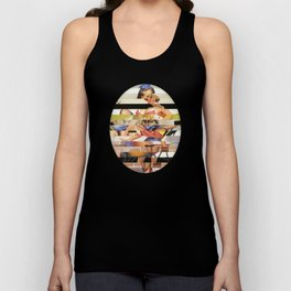 Glitch Pin-Up Redux: Gwen Unisex Tank Top