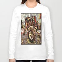 truck Long Sleeve T-shirts featuring mud truck by Vector Art