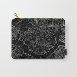 Seoul Black Map Carry-All Pouch