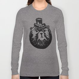 Grumpy Bear with a Top Hat Long Sleeve T-shirt