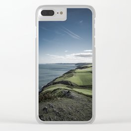 Mwnt Beach (Cardigan, Wales) Clear iPhone Case