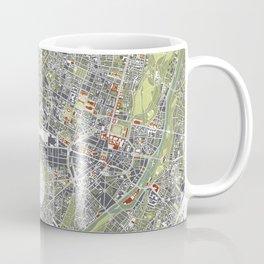 Munich city map engraving Coffee Mug