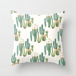 Cactus Desert Throw Pillow