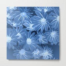 Duotone Flowers Metal Print