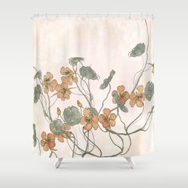 Winding flowers Shower Curtain