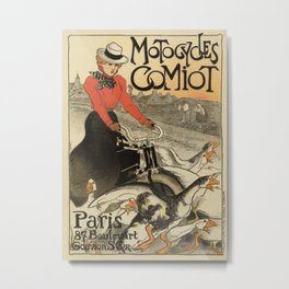 1899 vintage French motorcycle ad by Steinlen Metal Print