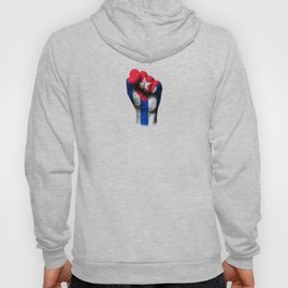 Cuban Flag on a Raised Clenched Fist Hoody