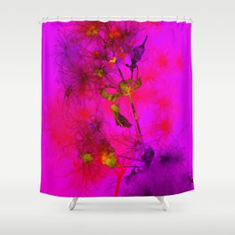 Florales · plant (colorful) end 10 Shower Curtain