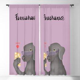 Famearaner (Pink Background) Blackout Curtain
