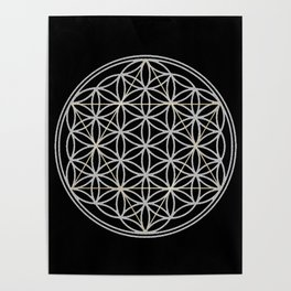 Flower of Life and Star of David Poster
