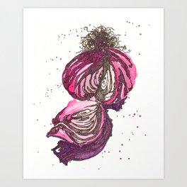 Onion Art Print