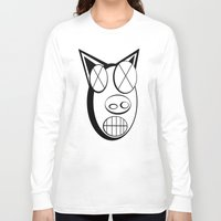pig Long Sleeve T-shirts featuring pig. by azyxz