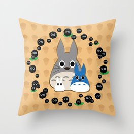 Soot Sprites and Neighbors Throw Pillow