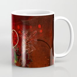 Happy mother's day with heart and roses Coffee Mug