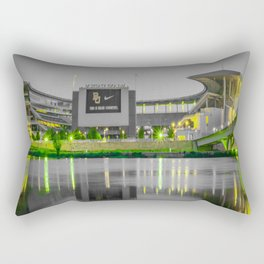 Baylor McLane Football Stadium Green Print Rectangular Pillow