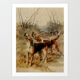 Earl, Maud (1864-1943) - The Power of the Dog 1910 (Foxhounds) Art Print