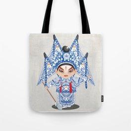 Beijing Opera Character ZhaoYun Tote Bag