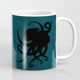 """Octopus Silhouette"" digital illustration by Amber Marine, (Copyright 2015) Coffee Mug"