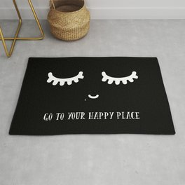 GO TO YOUR HAPPY PLACE Rug