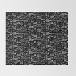 Witchcraft I [B&W] Throw Blanket