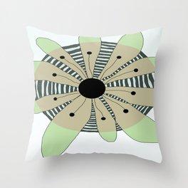 FLOWERY  CAMILLE / ORIGINAL DANISH DESIGN bykazandholly Throw Pillow