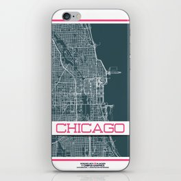Chicago City Streets Print iPhone Skin